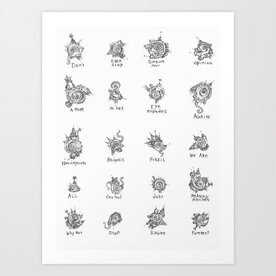 16 Dust Motes Art Print