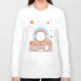 Orange Space Long Sleeve T-shirt
