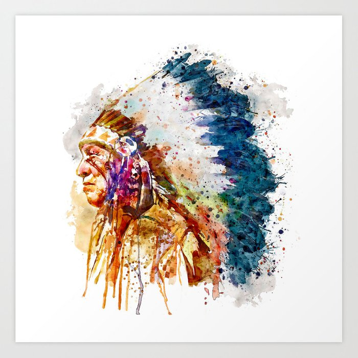 Native American Chief Kunstdrucke