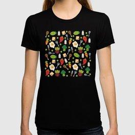 Cute Kawaii Food Pattern T-shirt