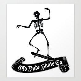 ODS Grinding Skeleton Art Print