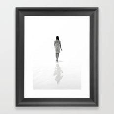Good luck exploring the infinite abyss. Framed Art Print