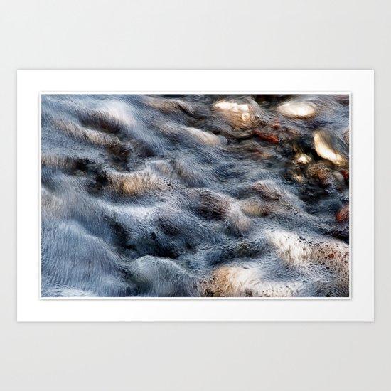 Wavy sea Art Print