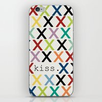 kiss iPhone & iPod Skins featuring kiss. by Sharon Turner