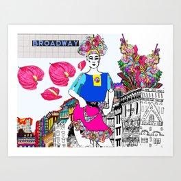 Bowery Girl Art Print