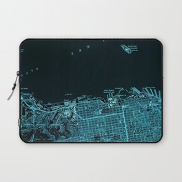 San Francisco North, California vintage map, year 1947,usa old maps Laptop Sleeve