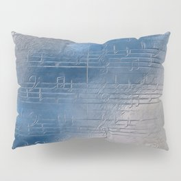 Silver music Pillow Sham
