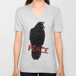 Crow For Peace Unisex V-Neck