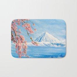 "Oil painting ""Cherry blossom"" Bath Mat"