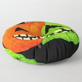 Poison Pumpkin Face Floor Pillow