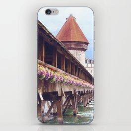 Swiss Wooden Bridge iPhone Skin