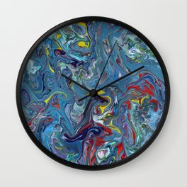 Abstract Oil Painting 7 Wall Clock