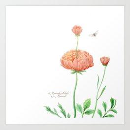 Ranunculus Watercolor Art Print