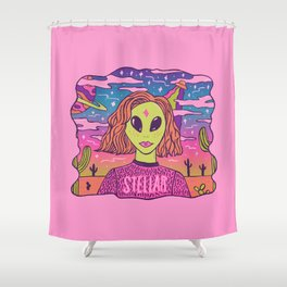 Stellar Girl Shower Curtain