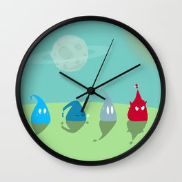 BLU EMOTION : little adventure for little space creature Wall Clock