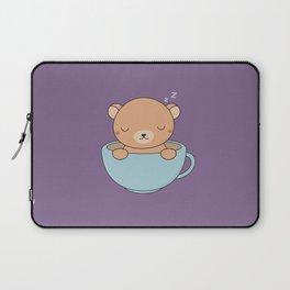 Kawaii Cute Coffee Brown Bear Laptop Sleeve