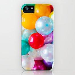 Rainbow Birthday Balloons iPhone Case