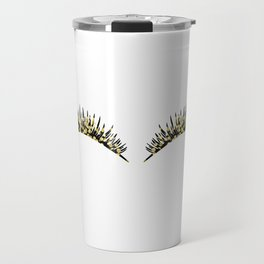 Golden dazzle lashes Travel Mug