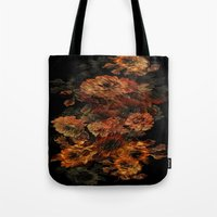 flower pattern Tote Bags featuring Flower Pattern by Eduardo Doreni