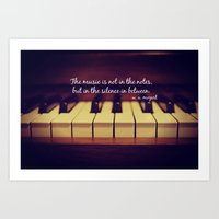 mozart Art Prints featuring Mozart Music by KimberosePhotography