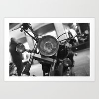 motorcycle Art Prints featuring Motorcycle by James Tamim