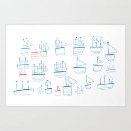 ships Art Print