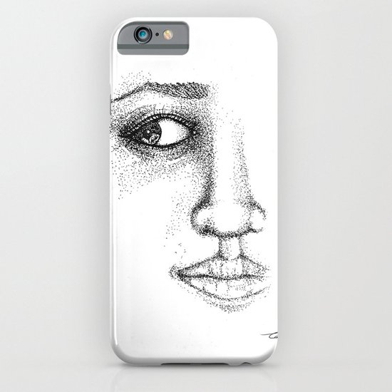 Fine Liner Stippling Girl 1 iPhone & iPod Case