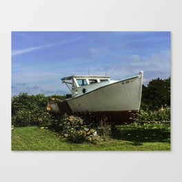 Retired Lobster Boat Canvas Print