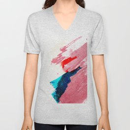 Late summer afternoon modern abstract painting and illustration Unisex V-Neck