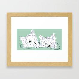 mint kittens 01 Framed Art Print
