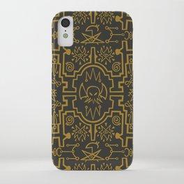 Lovecraftian pattern dark iPhone Case