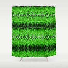 Retro India Lounge Pattern (apple green) Shower Curtain