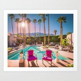2381 Mid-Century Modern Stanbridge Estate Palm Springs Art Print