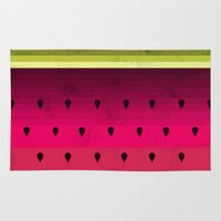 watermelon Area & Throw Rugs featuring Watermelon by Kakel