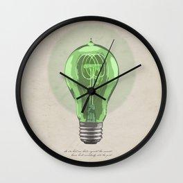 The Green Light Wall Clock