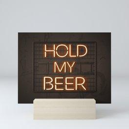 Hold My Beer Neon Bar Light Mini Art Print