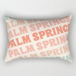 Palm Springs typography trendy retro vintage style 70s minimal art socal cali vibes Rectangular Pillow