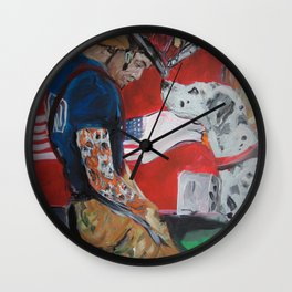 San Antonio Fire Fighter Wall Clock