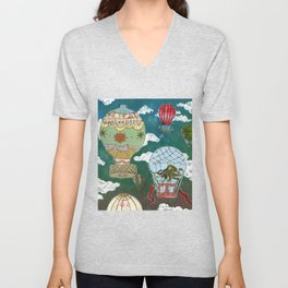 Hot Air Balloons I Unisex V-Neck