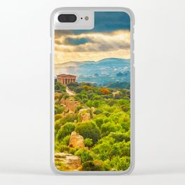 Agrigento and the Valley of the Temples Clear iPhone Case