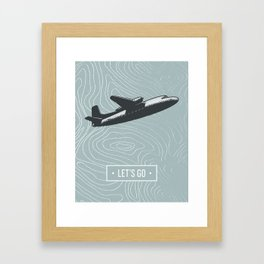 Let's Go Framed Art Print