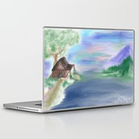 cabin Laptop & iPad Skins featuring Peaceful Cabin by Christina Dugger