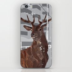 Cityscape Deer iPhone & iPod Skin