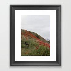 Hills of Poppies Framed Art Print
