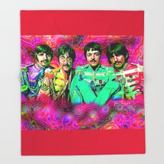 Sgt. Pepper's Lonely Hearts Club Band Throw Blanket
