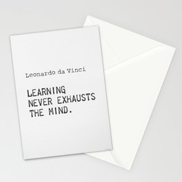 Leonardo da Vinci quote 5 Stationery Cards