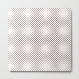 Adobe Rose Polka Dots Metal Print