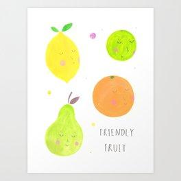 Friendly Fruit Art Print