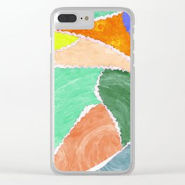 smeared patches Clear iPhone Case