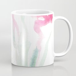 Pink Watercolor Flowers Coffee Mug